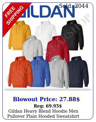 gildan heavy blend hoodie men pullover plain hooded sweatshir