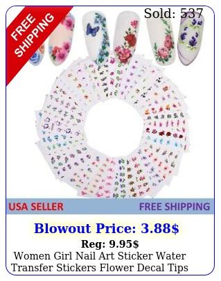 women girl nail art sticker water transfer stickers flower decal tips decoratio