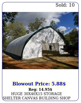 huge xx storage shelter canvas building shop carport fabric metal fram