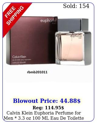 calvin klein euphoria perfume men  oz ml eau de toilette seale