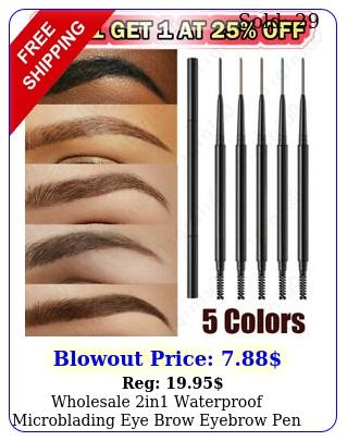 wholesale in waterproof microblading eye brow eyebrow pen pencil slim brus