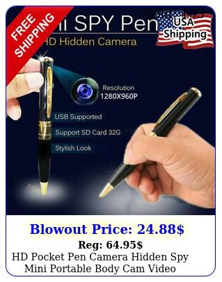 hd pocket pen camera hidden spy mini portable body cam video recorder dv