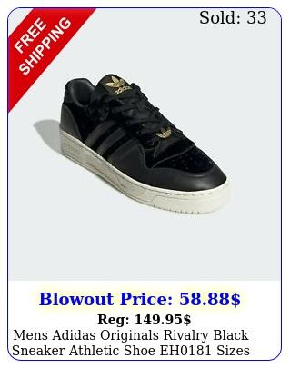 mens adidas originals rivalry black sneaker athletic shoe eh sizes