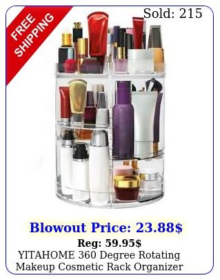 yitahome degree rotating makeup cosmetic rack organizer storage cas