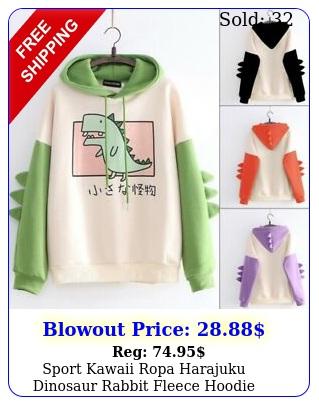 sport kawaii ropa harajuku dinosaur rabbit fleece hoodie sweatshirt coat outfi