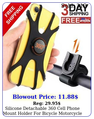 silicone detachable cell phone mount holder bicycle motorcycle mtb bik