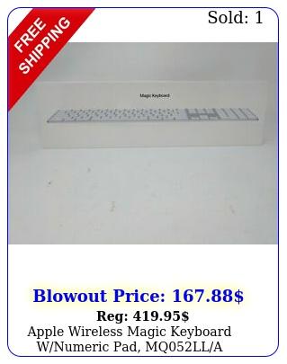 apple wireless magic keyboard wnumeric pad mqll