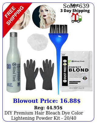 diy premium hair bleach dye color lightening powder kit  volume develope