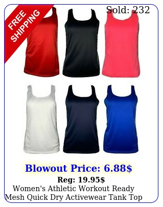 women's athletic workout ready mesh quick dry activewear tank top fun colors us