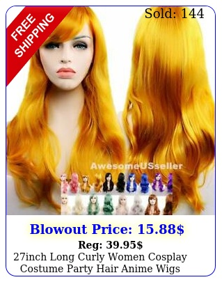 inch long curly women cosplay costume party hair anime wigs wavy wig full hai