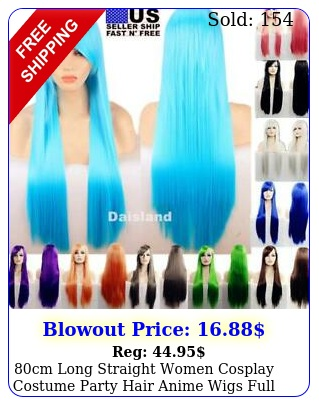cm long straight women cosplay costume party hair anime wigs full hair wi