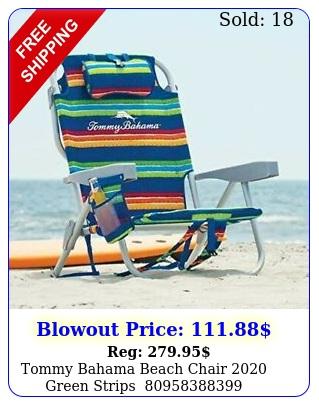 tommy bahama beach chair green strip