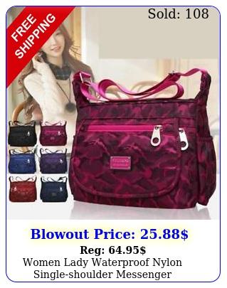 women lady waterproof nylon singleshoulder messenger crossbody bag purse trave