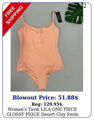 women's tavik lila one piece glossy pique desert clay swim suit medium nordstro
