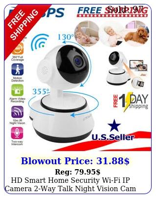 hd smart home security wifi ip camera way talk night vision cam baby monito