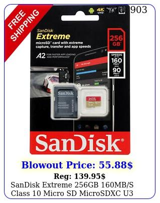 sandisk extreme gb mbs class micro sd microsdxc u memory card sdsqx