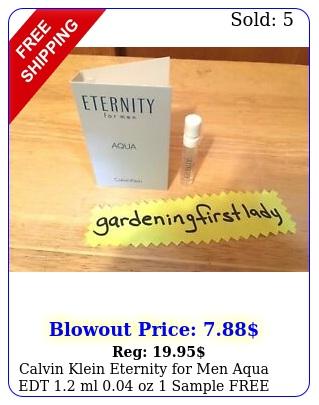 calvin klein eternity men aqua edt ml oz sample free shippin