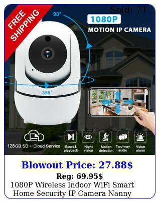 p wireless indoor wifi smart home security ip camera nanny baby monito