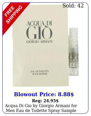 acqua di gio by giorgio armani men eau de toilette spray sample vial o