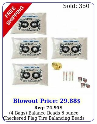 bags balance beads ounce checkered flag tire balancing beads o