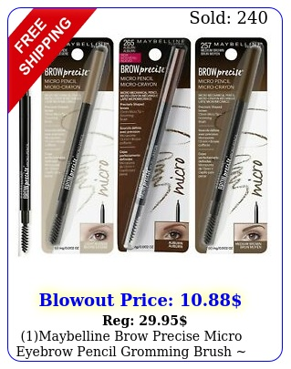 maybelline brow precise micro eyebrow pencil  gromming brush choose shad