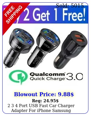 port usb fast car charger adapter iphone samsung android cell phone l