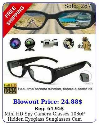 mini hd spy camera glasses p hidden eyeglass sunglasses cam eyewear dv