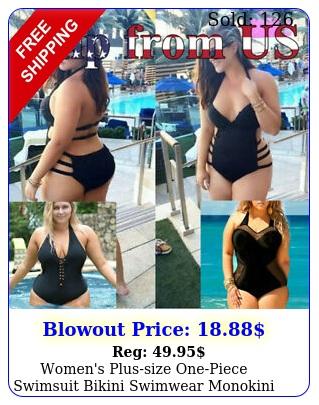 women's plussize onepiece swimsuit bikini swimwear monokini swimming swim sui