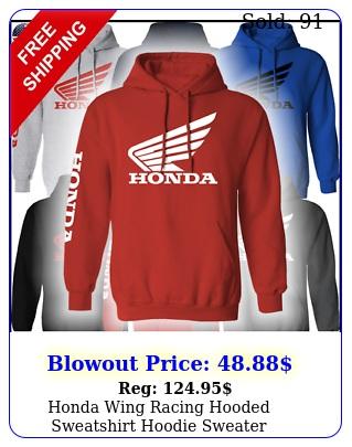 honda wing racing hooded sweatshirt hoodie sweater motorcycle team crf xr cb