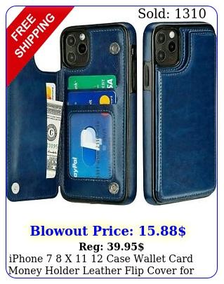 iphone  x  case wallet card money holder leather flip cover appl