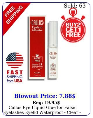 callas eye liquid glue false eyelashes eyelid waterproof clear b