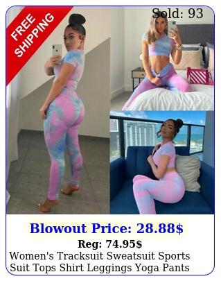 women's tracksuit sweatsuit sports suit tops shirt  leggings yoga pants set u