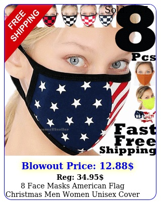 face masks american flag christmas men women unisex cover clothing mask clot