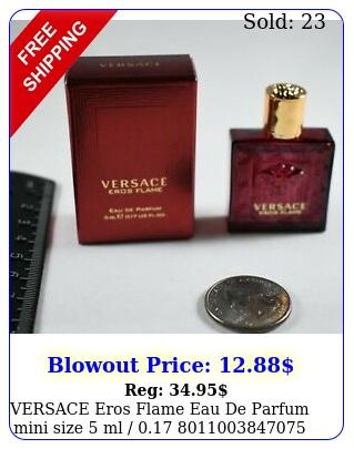 versace eros flame eau de parfum mini size ml
