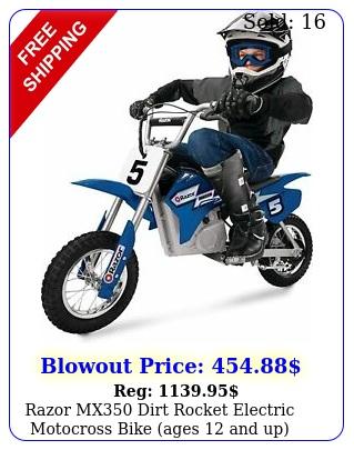 razor mx dirt rocket electric motocross bike ages u