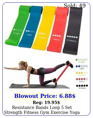 resistance bands loop set strength fitness gym exercise yoga workout pull u