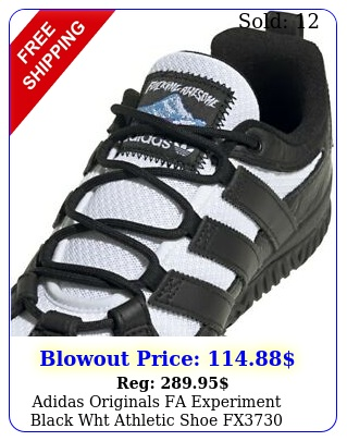 adidas originals fa experiment black wht athletic shoe fx mens siz