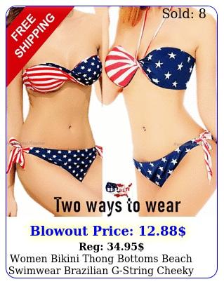 women bikini thong bottoms beach swimwear brazilian gstring cheeky swimsui