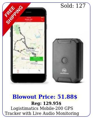 logistimatics mobile gps tracker with live audio monitorin