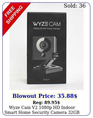 wyze cam v p hd indoor smart home security camera  gb sd card blac