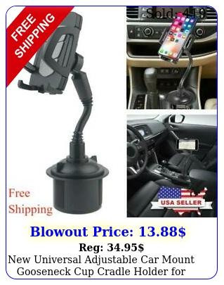 universal adjustable car mount gooseneck cup cradle holder cell phon