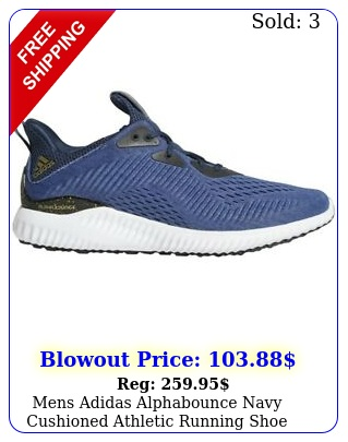 mens adidas alphabounce navy cushioned athletic running shoe h size