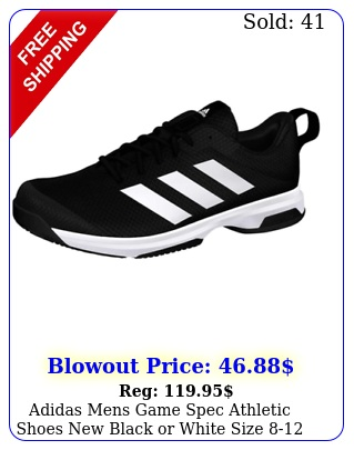 adidas mens game spec athletic shoes black or white size in bo