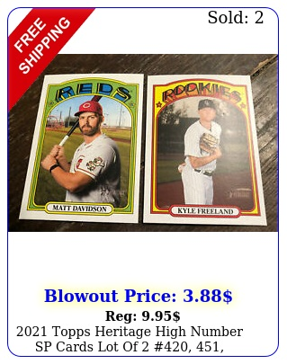 topps heritage high number sp cards lot of