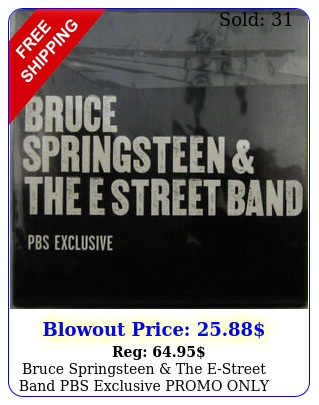 bruce springsteen the estreet band pbs exclusive promo only cd e