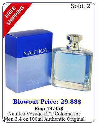 nautica voyage edt cologne men oz ml authentic original seale