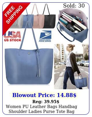 women pu leather bags handbag shoulder ladies purse tote bag huge capacit