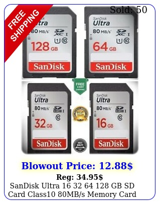 sandisk ultra   gb sd card class mbs memory card quick transfe