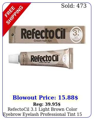 refectocil light brown color eyebrow eyelash professional tint m