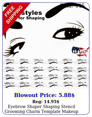eyebrow shaper shaping stencil grooming charm template makeup tool kit pc